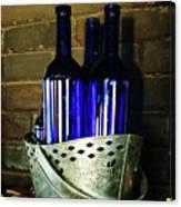 Blue Bottles Canvas Print