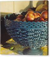 Blue Bowl Canvas Print