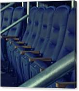 Blue Box Seats Canvas Print