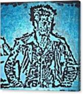 Blue Brad Canvas Print