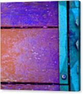 Blue Bridge Bolts Canvas Print