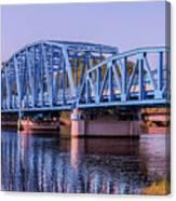 Blue Bridge Georgia Florida Line Canvas Print