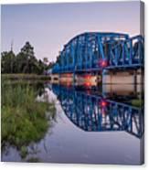 Blue Bridge Over The St. Marys River Kingsland, Georgia Canvas Print