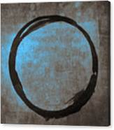 Blue Brown Enso Canvas Print