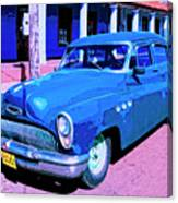 Blue Buick Canvas Print