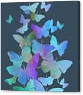 Blue Butterfly Flutter Canvas Print