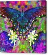 Blue Butterfly Pop Canvas Print