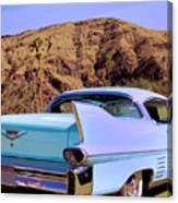 Blue Cadillac Canvas Print