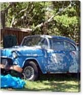 Blue Car On The Bayou Canvas Print