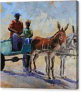 Blue Cart Canvas Print