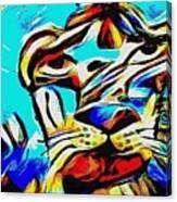 Blue Cat Blue Canvas Print