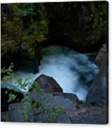 Blue Cauldron Waterfall Canvas Print