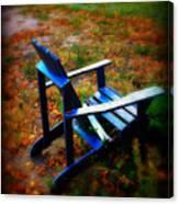 Blue Chair Canvas Print