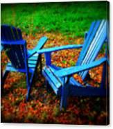 Blue Chairs Canvas Print