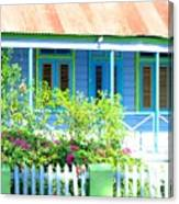 Blue Chattel House Canvas Print
