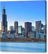 Blue Chicago Canvas Print