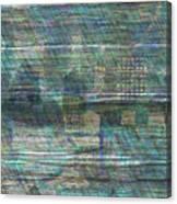Blue City Moon Canvas Print