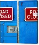 Blue Closure Canvas Print