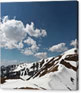 Blue Cloudy Sky Over Spring Tatra Mountains, Poland, Europe Canvas Print