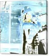 Blue Collage Canvas Print