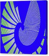 Blue Colored Metal Panel Tempe Center For The Arts Abstract Canvas Print