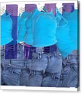 Blue Comp Number Three Canvas Print