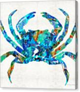 Blue Crab Art By Sharon Cummings Canvas Print
