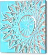 Blue Crystal Snowflake Canvas Print