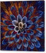 Blue Dahlia Canvas Print