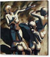 Blue Dancers Canvas Print