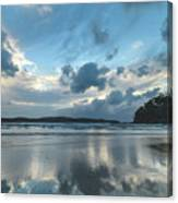 Blue Dawn Seascape With Cloud Reflections Canvas Print