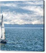Blue Days On Lake Erie Canvas Print