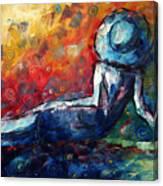 Blue Daze Original Madart Painting Canvas Print