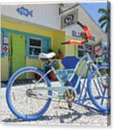 Blue Dog Matlacha Island Florida Canvas Print