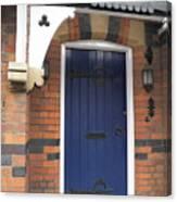 Blue Door At 49 High Canvas Print