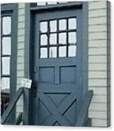 Blue Door At The Seaport Canvas Print