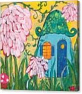 Blue Door Fairy House Canvas Print