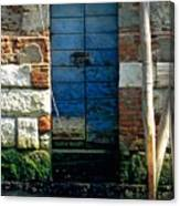 Blue Door In Venice Canvas Print