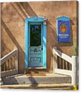 Blue Door On Canyon Road Canvas Print