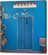 Blue Doors In Mexico Canvas Print