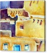 Blue Doors Of The Taos Pueblo Canvas Print