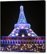 Blue Eiffel Canvas Print