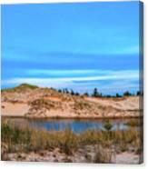 Blue Evening In Ludington State Park Canvas Print
