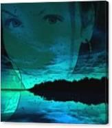 Blue Eyes At Night Canvas Print