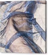 Blue Fabric Canvas Print