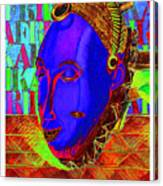 Blue Faced Mask Canvas Print