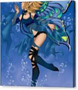 Blue Fairy Of Water Canvas Print