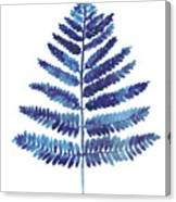 Blue Ferns Watercolor Art Print Painting Canvas Print