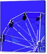 Blue Ferris Wheel Canvas Print