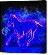 Blue Fire Horse - Da Canvas Print